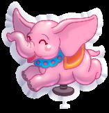 Lyserød Elefant