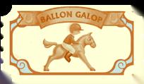 Ballon Galop Billet