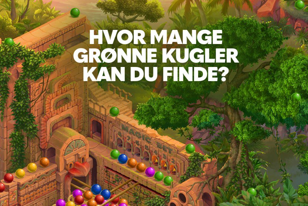 Hvor mange grønne kugler kan du finde? 🟢