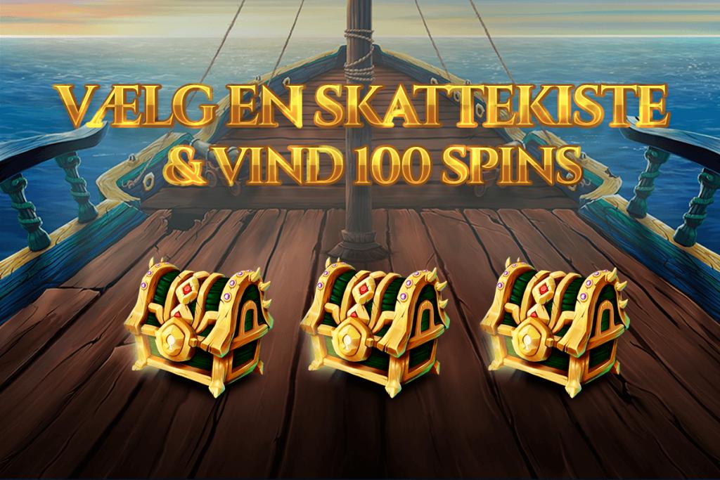 Vælg en skattekiste og vind 100 spins! ⭐️