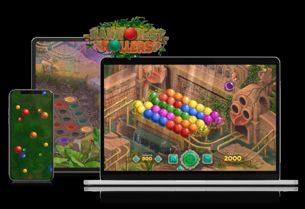 Nyt spil: Rainforest Rollers!