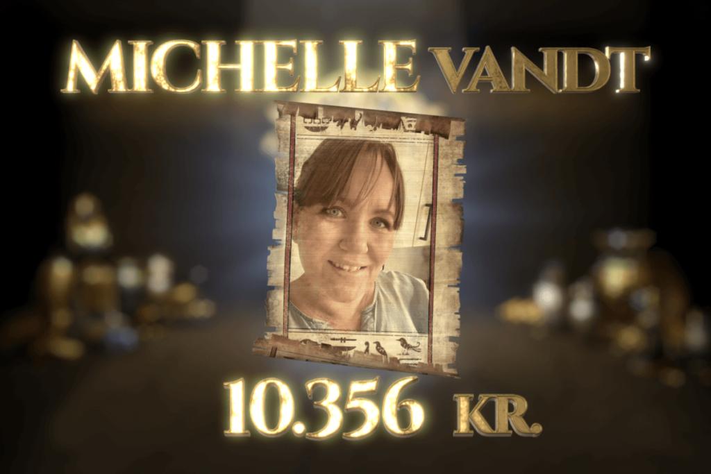 Michelle vandt Jackpot-gevinst på 10.356 kr. i Egyptens Prinsesse!