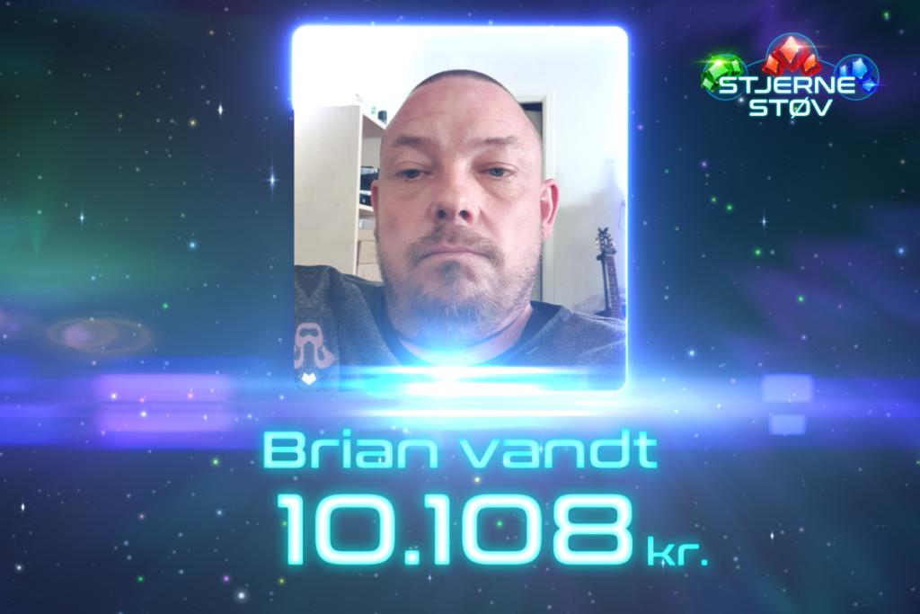 Brian vandt Jackpot-gevinst på 10.108 kr. i Stjernestøv!