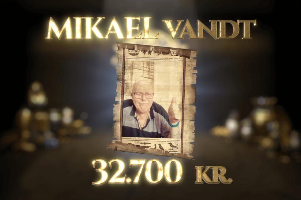 Mikael vandt Jackpot-gevinst på 32.700 kr. i Egyptens Prinsesse!