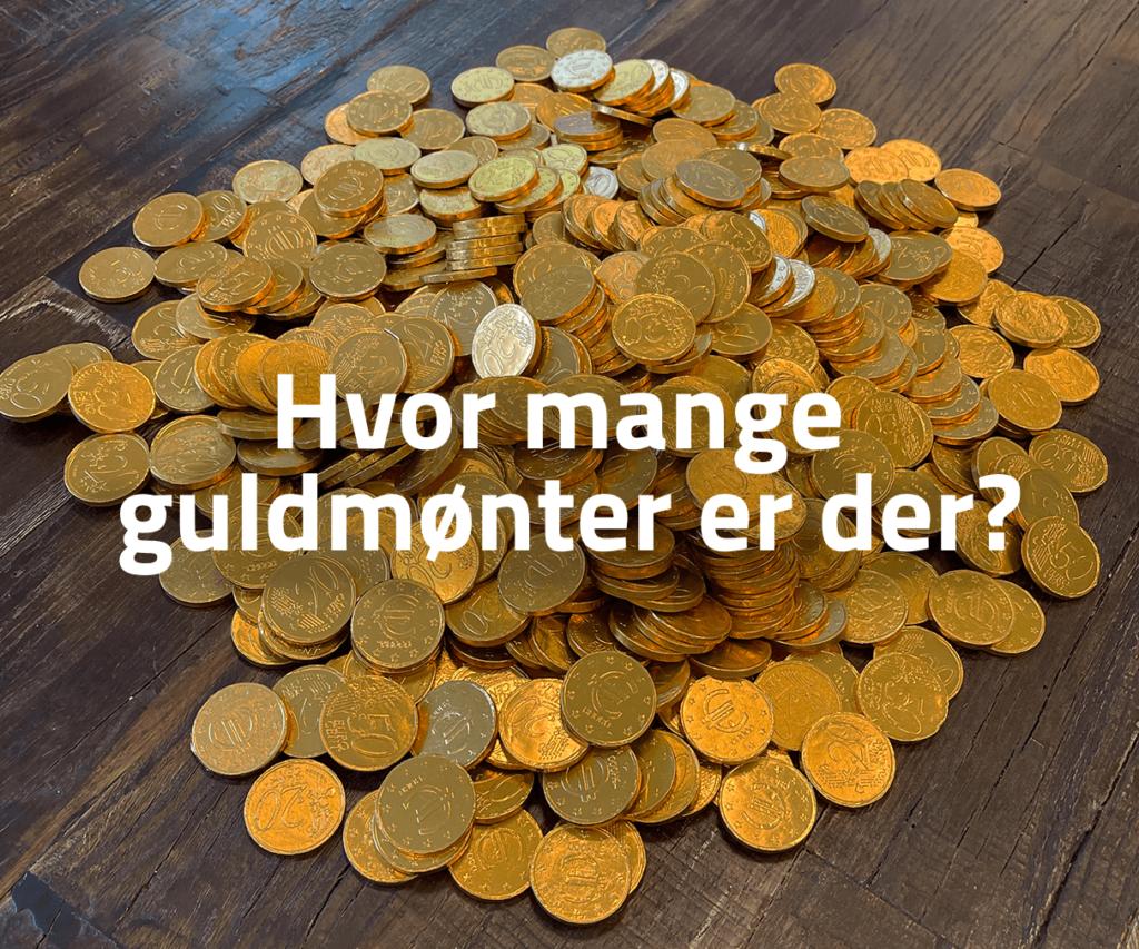 Hvor mange guldmønter er der?